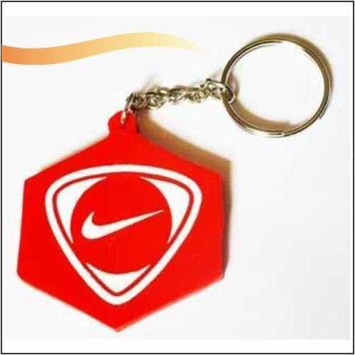 Silicone Hexagonal Key Ring