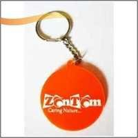 Silicone Round Key Ring