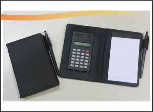 Memo Pad with Pen and Calculator