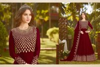 Latest Maroon Designer Anarkali Suit