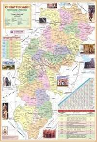 Chhattisgarh State Map
