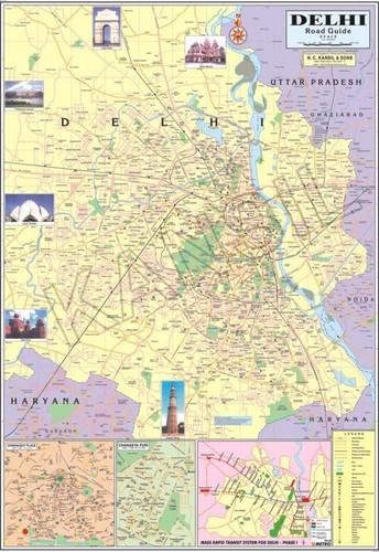 Delhi Political Map Dimensions: 70 A A  100  Centimeter (Cm)