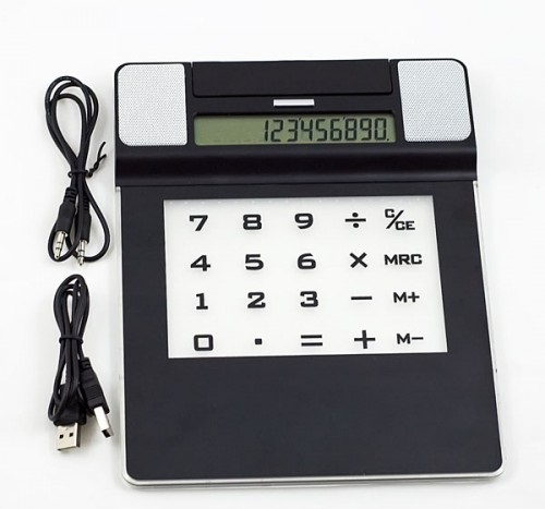 Mouse Pad with Calculator, Speaker and USB Ports