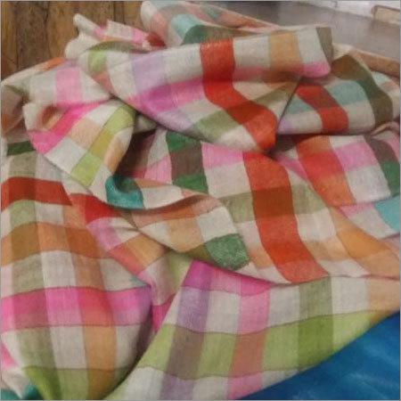Cashmere Multicolor Check Shawl