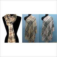 Cashmere Check Shawl