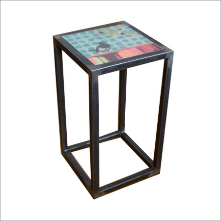 Square Steel Accent Table