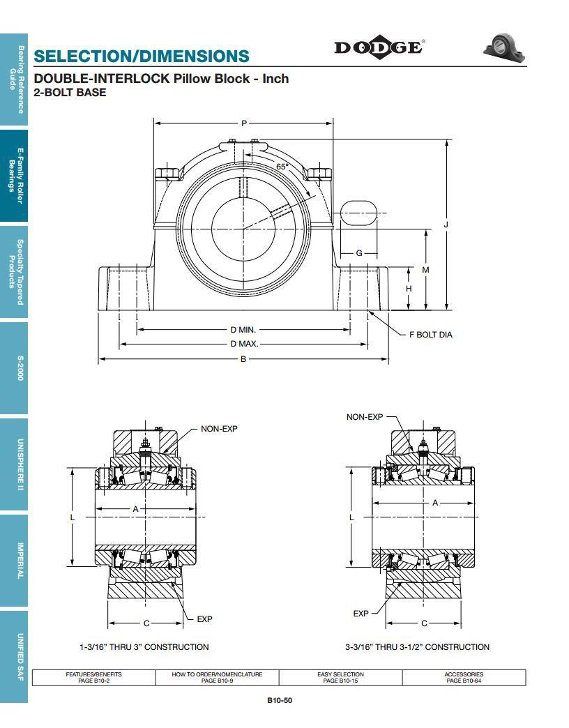 Double Interlock Tapered Roller Bearings