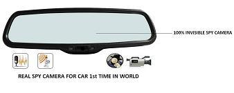 SPY CAR CAMERA IN CAR REAR VIEW GLASS IN DELHI INDIA - 9811251277