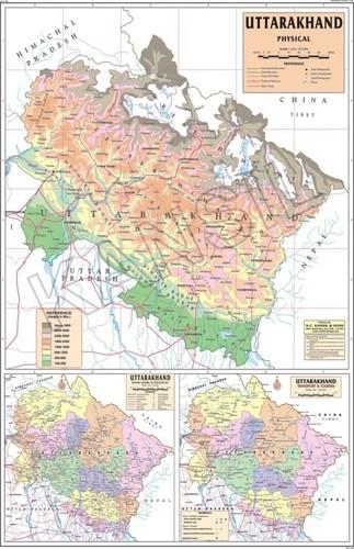 Uttarakhand Physical Map