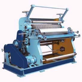 vertical type single face paper corrugating machine