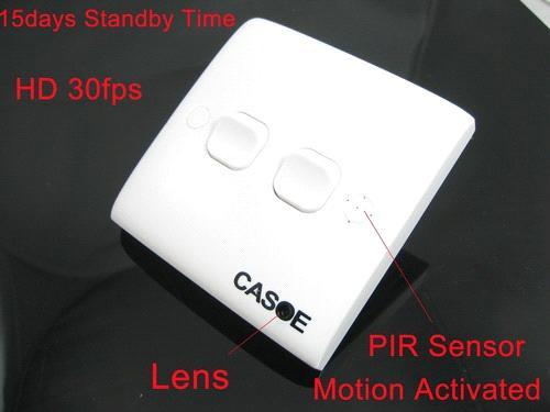 SPY SWITCH CAMERA-MOTION ACTIVATED IN DELHI INDIA – 9811251277