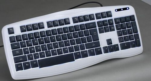 Illuminated Standard  Backlight switch freely between two colors full size  Keyboard