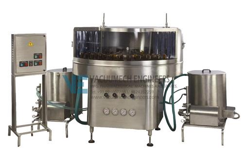 Semi Automatic Rotary Bottle Washing Mach