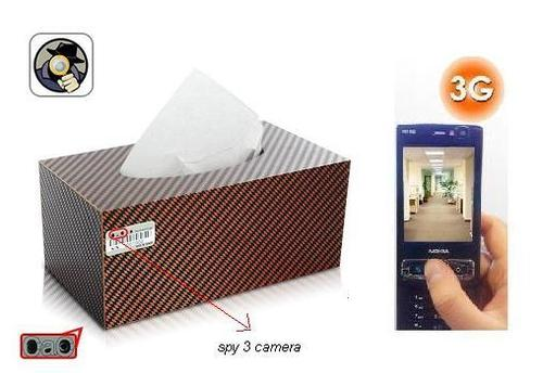 SPY 3G HIDDEN CAR TISSUE PAPER BOX CAMERA IN DELHI INDIA – 9811251277