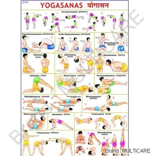 Large Yogasana Chart