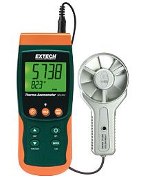 Metal Vane Thermo-Anemometer/Datalogger