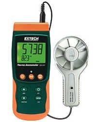 Metal Vane Thermo-Anemometer/Datalogger