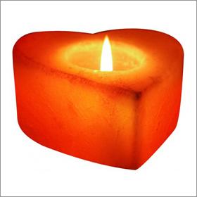 Heart Salt Candle Holder