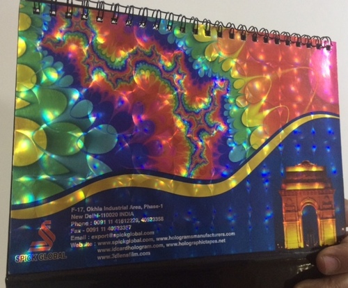 Holographic lamination films for Board/paper