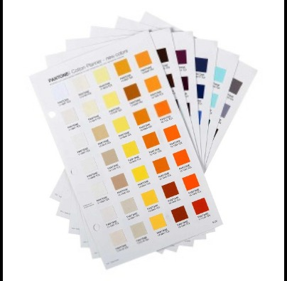 Pantone Cotton Planner 210 New Color Shade Card