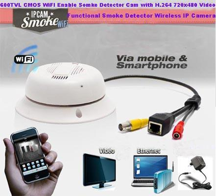 SPY WI-FI SMOKE DETECTOR CAMERA IN DELHI INDIA – 9811251277