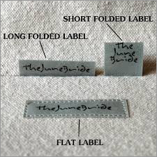 Folded Woven  Labels