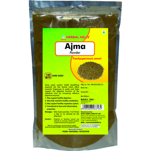 Herbal Ajma Powder (Trachyspermum ammi) For Constipation 100 Gms