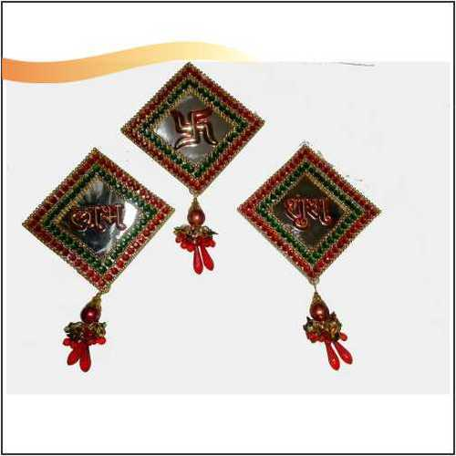 Designer Three Pieces Shubh Labh with Swatik