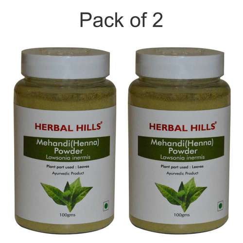 ayurvedic Mehandi Powder 100gm for Healthy Hair (Pack of 2)