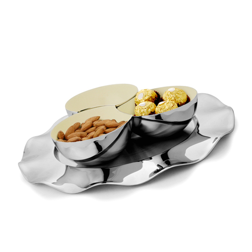 Ruffle Nut Bowl Set