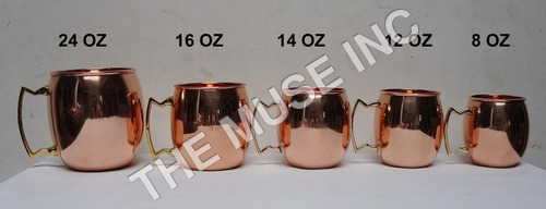 Barrel Solid Copper Mugs