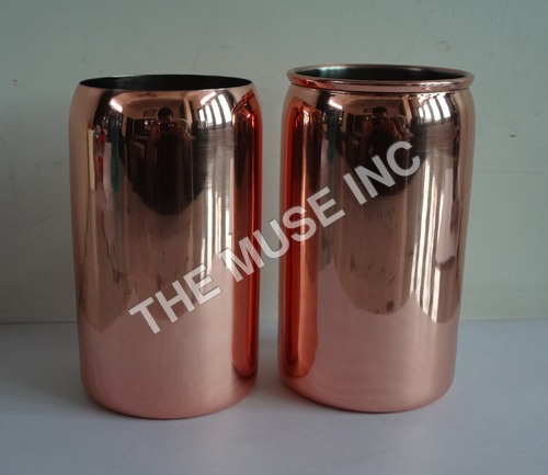 Solid Copper Beer Can