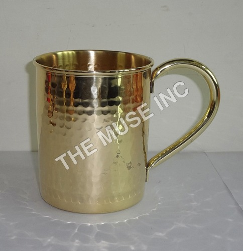 Brass and Gold Look Mugs