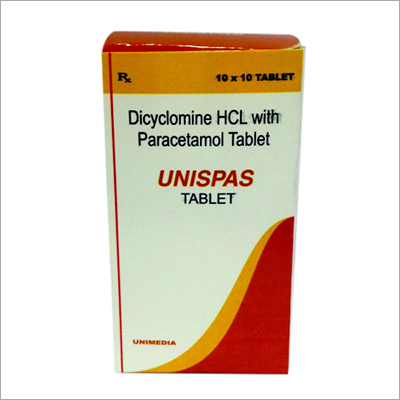 Dicyclomine HCL with Paracetamol Tablet(UNISPAS)