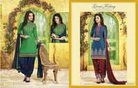 Cotton Patiyala Dress Material