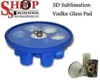 Sublimation vodka shot Glass Pad
