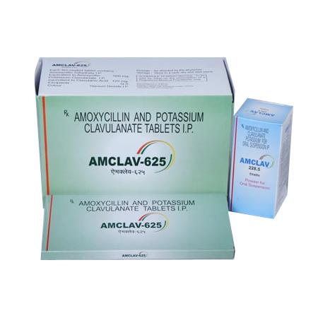 Amoxicillin / Clavulanic Acid Tablets and Syrup