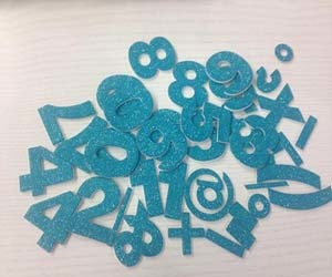 Glitter Number Numerical Sticker
