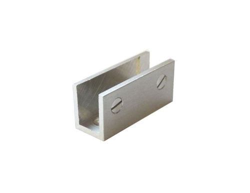 SS Finish Brass Glass Bracket