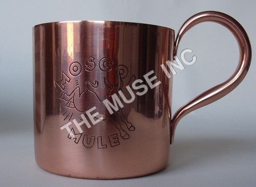 Custom Engraved Copper Mug for Moscow Mule.