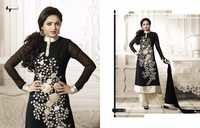 Black Embroidery Dress material