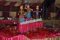 Wedding Small Bhangra Statue Food Stall Decoration