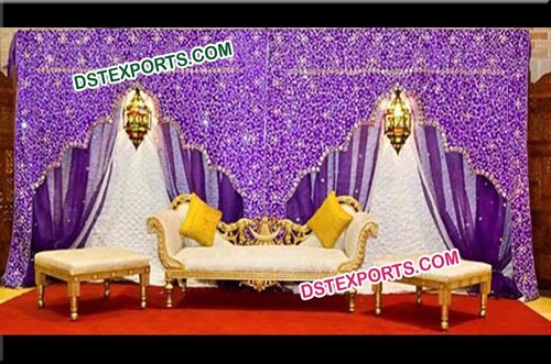 Embroidered Jharokha Style Wedding Event Backdrop