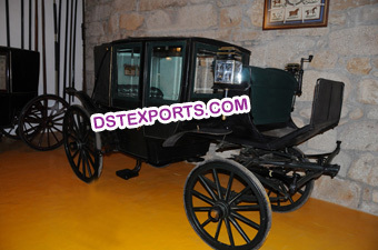 Black Horse Drawn Legendry Buggy Carriage