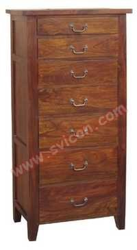WOODEN 7 DRAWER CHEST