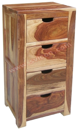 WOODEN 4 DRAWER CHEST
