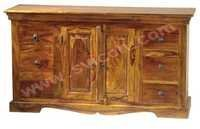 WOODEN SIDE BOARD 6 DRAWER 2 DOOR