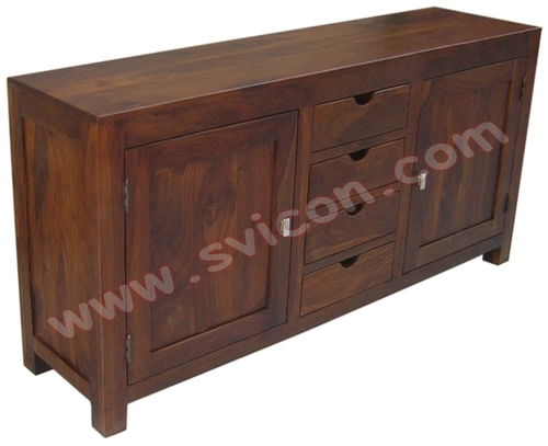 WOODEN SIDE BOARD 4 DRAWER 2 DOOR