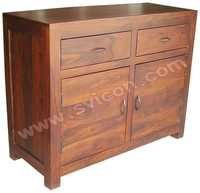 WOODEN SIDE BOARD 2 DRAWER 2 DOOR