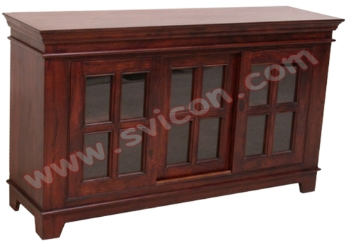 WOODEN SIDE BOARD 3 SLIDING DOOR